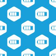 Almost discharged battery hexagon pattern - stock illustration