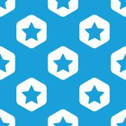 Favorite hexagon pattern Stock Illustration