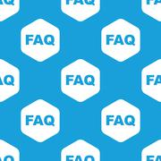 Stock Illustration of FAQ hexagon pattern