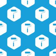Paint roller hexagon pattern Stock Illustration