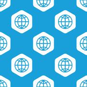 Globe hexagon pattern Stock Illustration