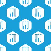 Test-tubes hexagon pattern - stock illustration