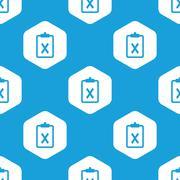 Declined hexagon pattern - stock illustration