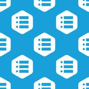 Dotted list hexagon pattern Stock Illustration