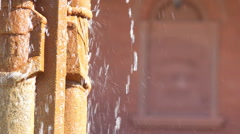 ASU Normal School 1894 Fountain and Building - Racked Focus Stock Footage