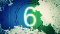 Retro film leader countdown - Flicker 038 HD, 4K - stock footage