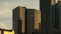 Panning shot of the Atlanta Skyline. Stock Footage