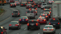 Static shot of traffic during dusk in Atlanta, Georgia. Arkistovideo