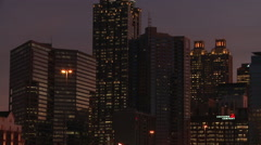 Panning, medium closeup shot from left to right of the Atlanta Skyline at night. Stock Footage