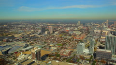 A high angle, extreme wide, timelapse shot of Atlanta, Georgia buildings and Arkistovideo