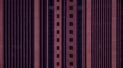 A closeup, very fast tilt shot of the Bank of America Plaza from top to bottom. Stock Footage