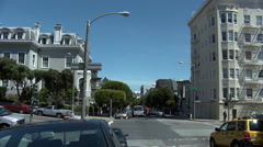Static motion shot at intersection on Fulton Street in San Francisco. Stock Footage