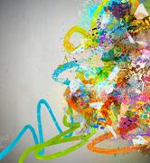 Abstract music background - stock illustration