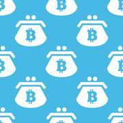 Bitcoin purse pattern - stock illustration