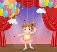 Girl dancing Stock Illustration