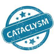 CATACLYSM round stamp Stock Illustration