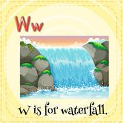 Waterfall Stock Illustration