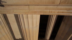 Stock Video Footage of A tracking shot of a large pillar at the Lincoln Memorial in Washington DC.