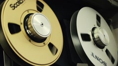 VIDEOTAPE REELS TURNING - stock footage