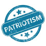 PATRIOTISM round stamp Stock Illustration
