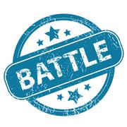 BATTLE round stamp Stock Illustration