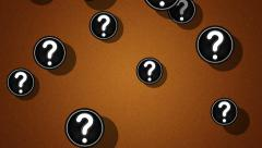 Flying question icons. Looping. Alpha channel is included. Stock Footage
