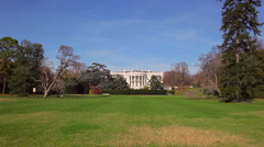 A static shot of the White House in Washington DC on a sunny day. Stock Footage