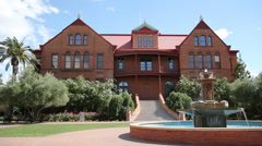 ASU Old Main Building Sky - Background Stock Footage