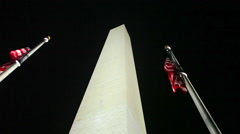 A static shot of the Washington Monument on a beautiful night. Stock Footage