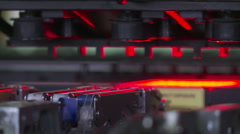 Automated machinery in electronic circuit board plant Stock Footage