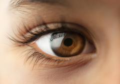 Child's human Eye - Macro - close up Stock Photos