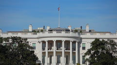 Static shot of the White House in Washington DC Stock Footage