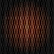 Seamless vector hexagon orange glow pattern - stock illustration