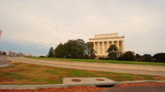 A panning shot of the National Treasury building on a morning. Stock Footage