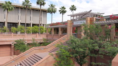 ASU Hayden Library Entrance - Background Stock Footage