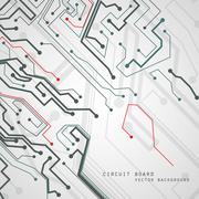 Circuit board vector background, technology illustration eps10 - stock illustration