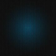 Seamless vector hexagon blue glow pattern black background Stock Illustration