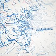 Futuristic technology illustration, circuit board vector background eps10 Stock Illustration