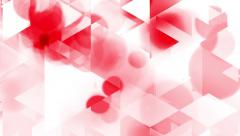 Graphic animation with triangles and red spots effects in background Stock Footage