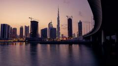 Dubai - Day to Night Time Lapse Stock Footage