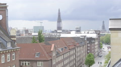 Timelapse of Hamburg City roofs Stock Footage