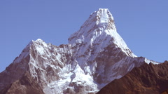 Ama Dablam peak in Nepal. Stock Footage
