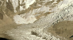 Panoramic shot of a glacier at the base of Mt. Everest. Stock Footage