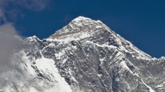Time-lapse of clouds swirling around Mount Everest. Cropped. Stock Footage