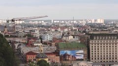Panoramic view of Kiev - stock footage