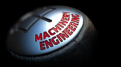 Machinery Engineering. Shift Knob. Concept of Influence - stock illustration