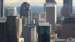 Static zoomed view looking at the Seattle skyline. - stock footage