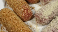 Stock Video Footage of Bio food, Croquettes in a plate in close shot
