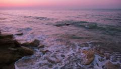 Dawn Surf at Stone Coast Stock Footage