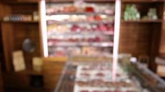 Bio food, Meat storage fridge fixed shot Stock Footage